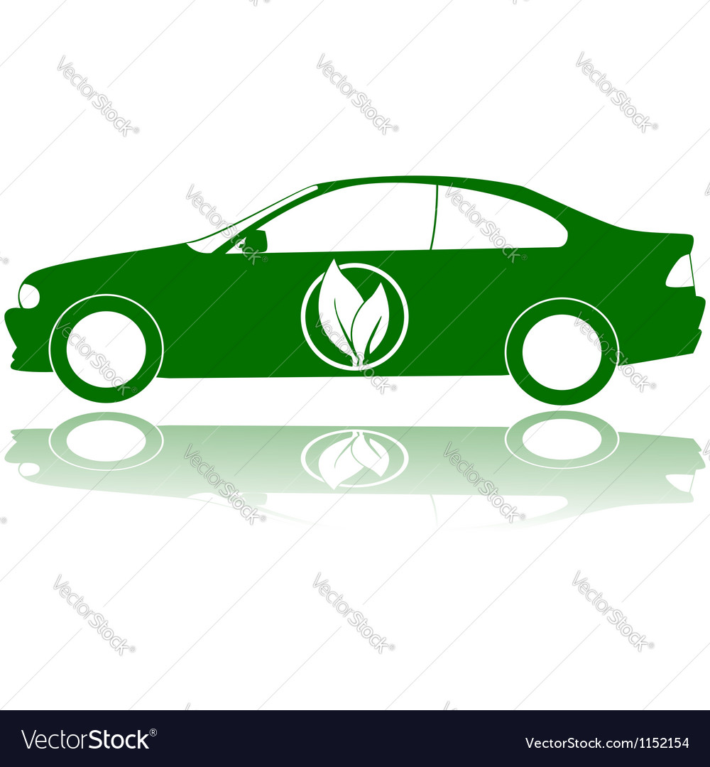 Green car vector | Price: 1 Credit (USD $1)