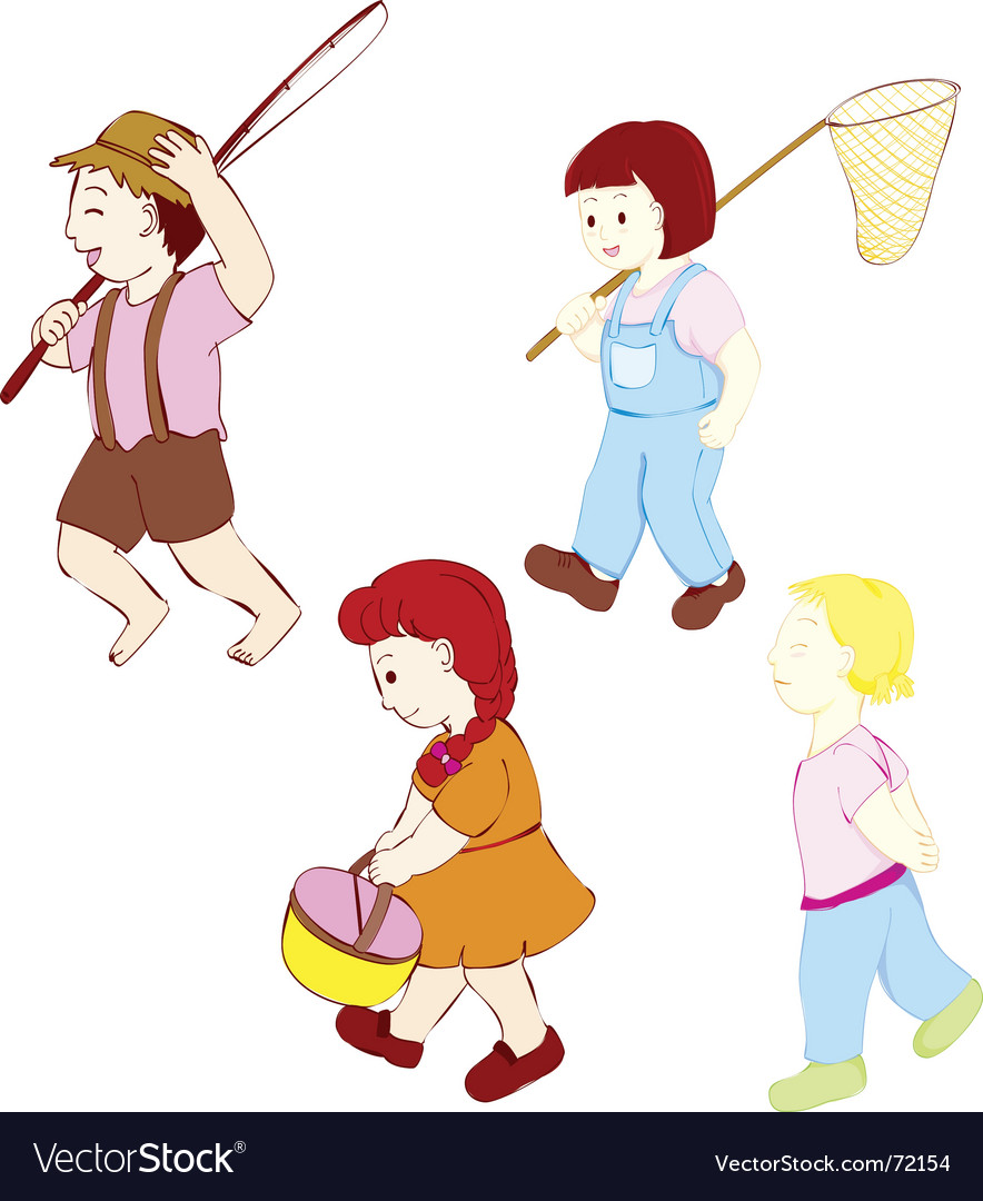 Kids outdoor vector | Price: 1 Credit (USD $1)