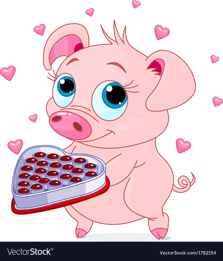 Love piglet vector | Price: 1 Credit (USD $1)