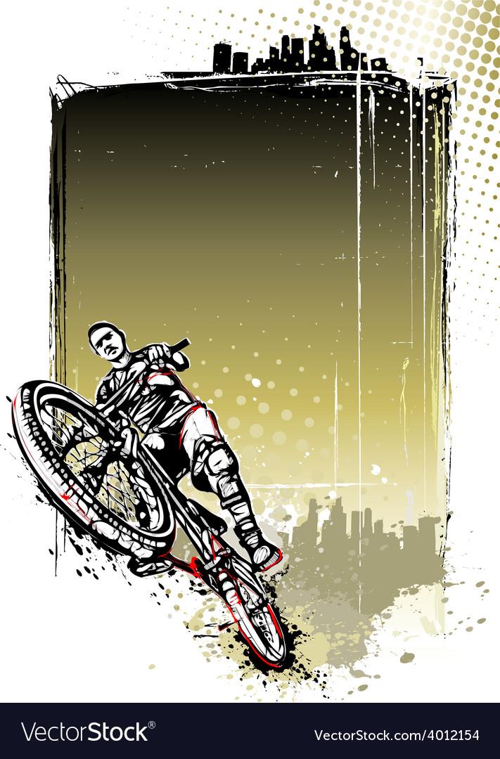 Mountain bike poster vector | Price: 3 Credit (USD $3)