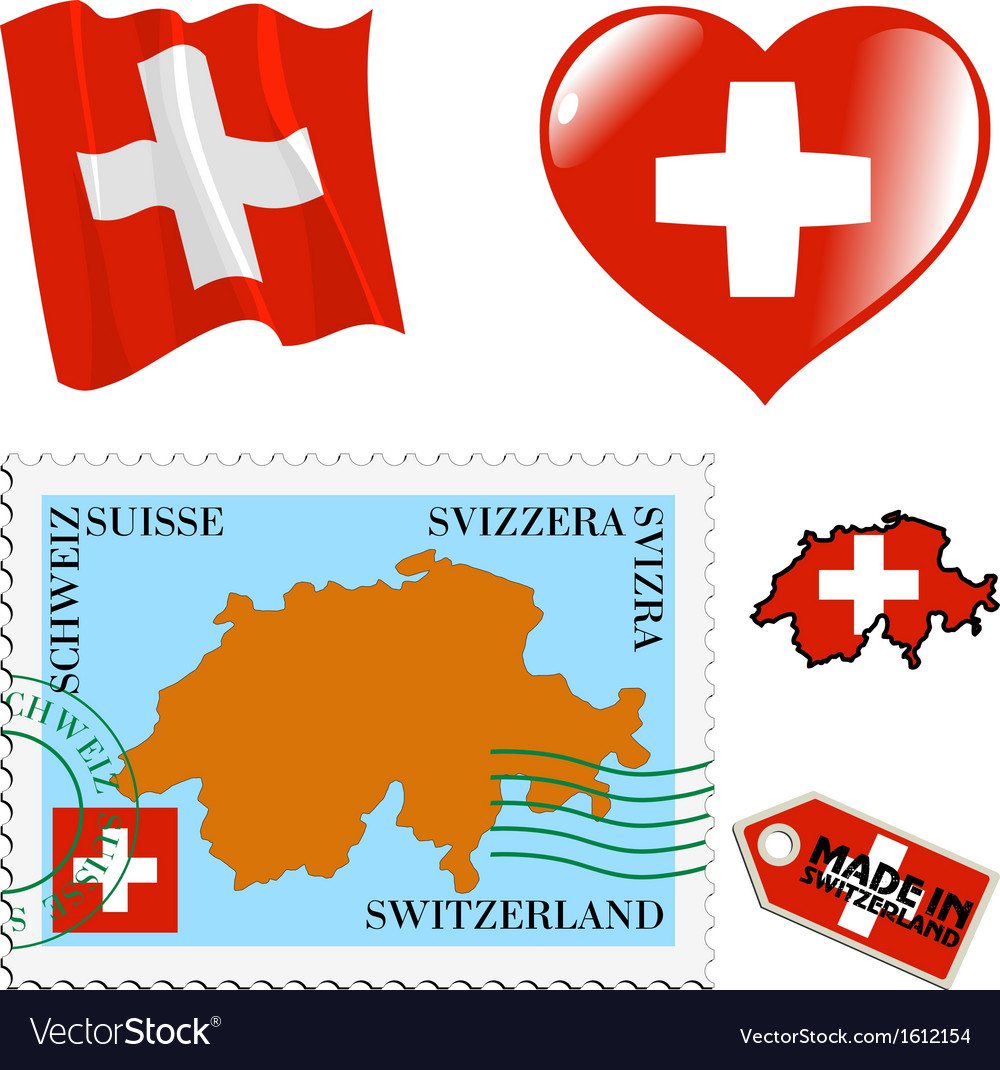 National colours of switzerland vector | Price: 1 Credit (USD $1)