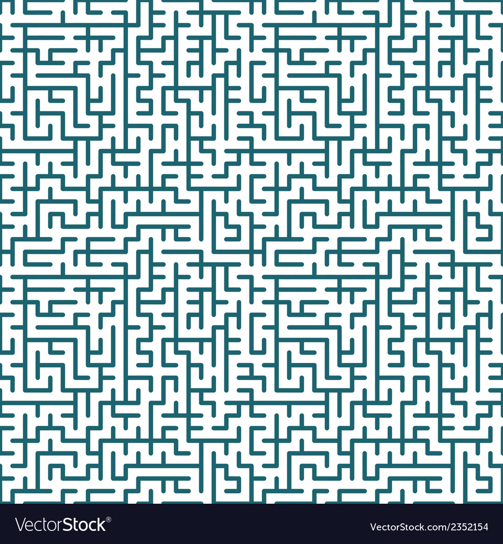 Seamless maze pattern vector | Price: 1 Credit (USD $1)