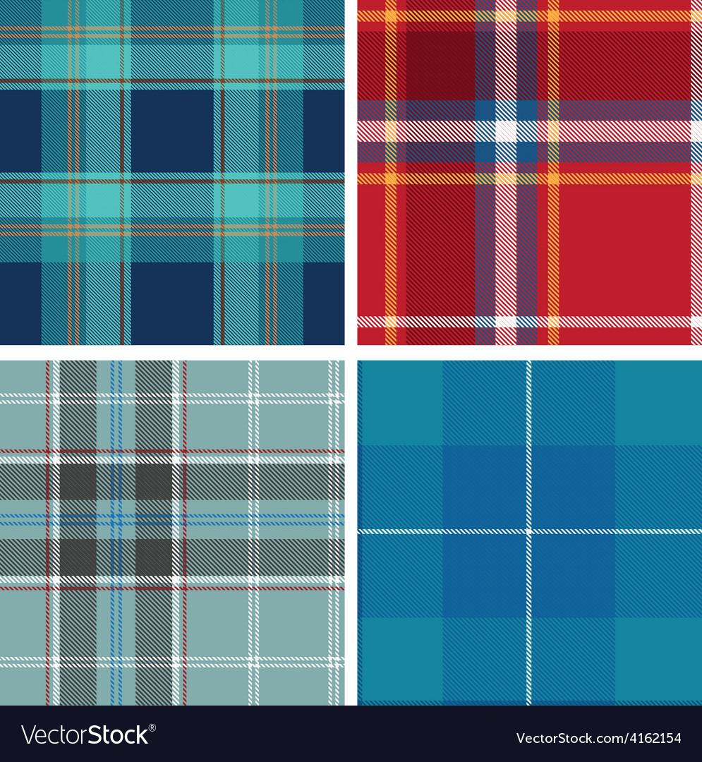 Set of seamless tartan patterns vector   Price: 1 Credit (USD $1)