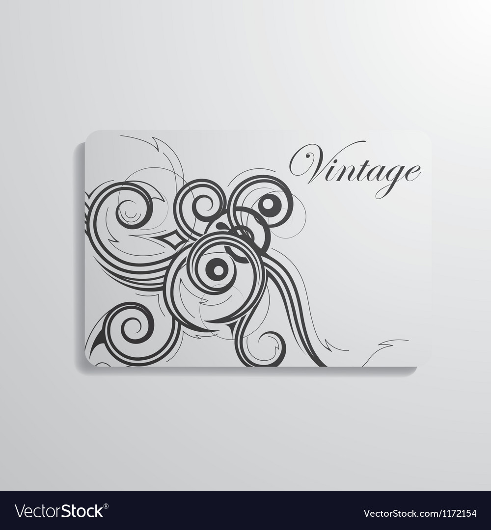 Visiting card vector | Price: 1 Credit (USD $1)