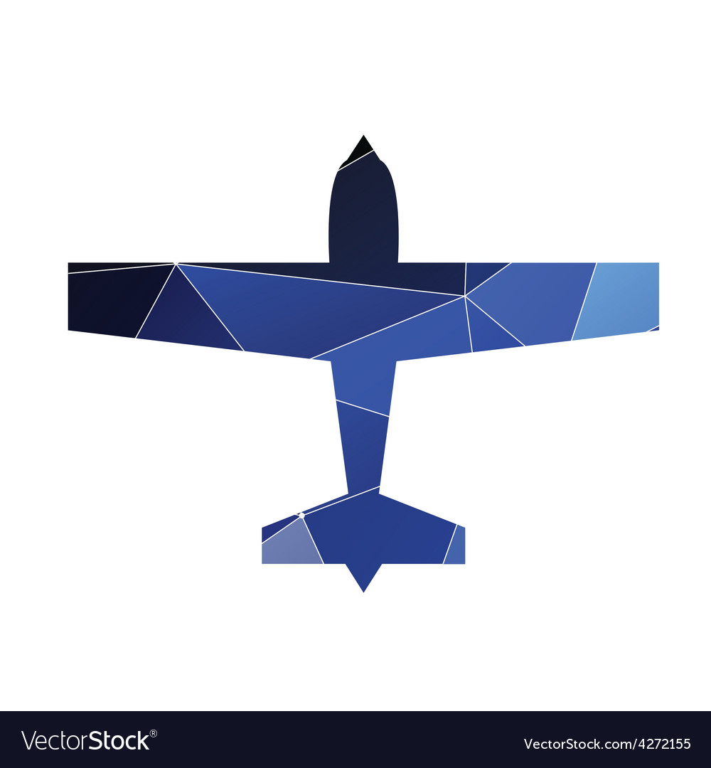 Airplane icon abstract triangle vector | Price: 1 Credit (USD $1)