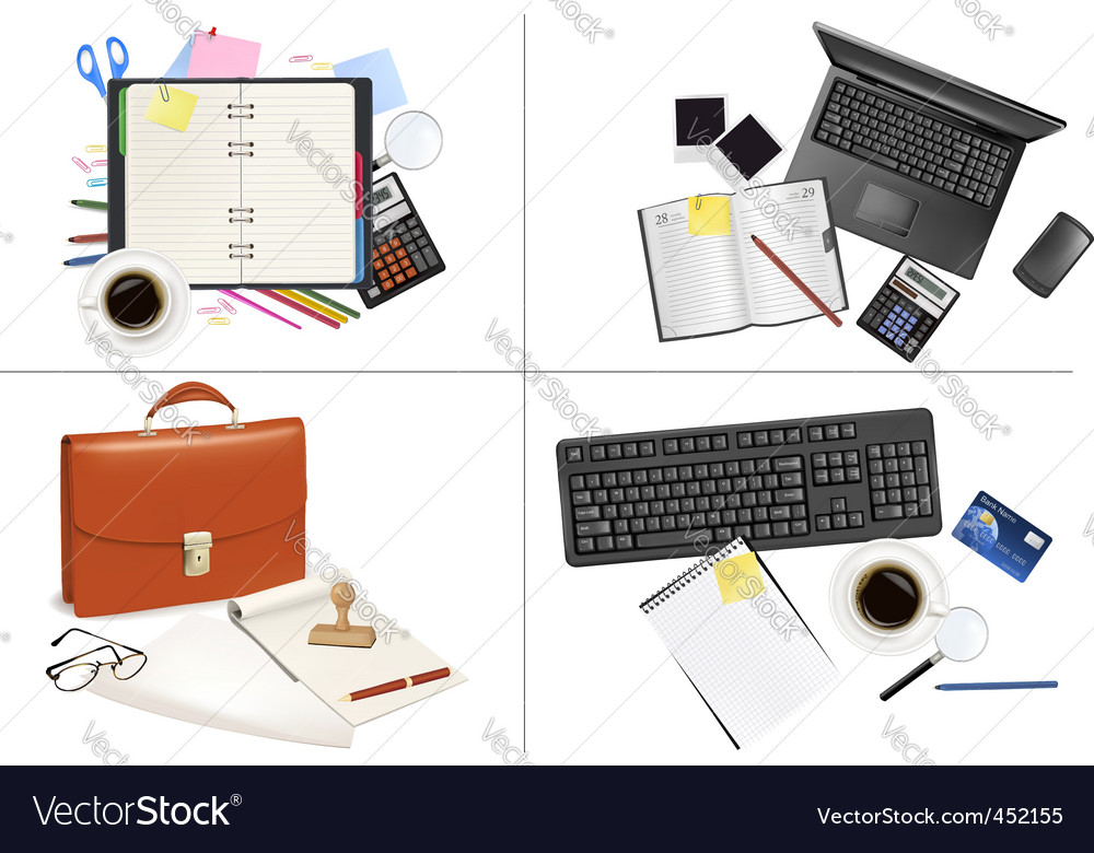 Big set of office backgrounds vector | Price: 3 Credit (USD $3)