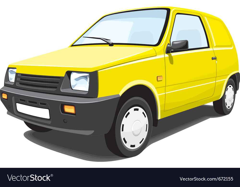 Delivery car vector | Price: 3 Credit (USD $3)