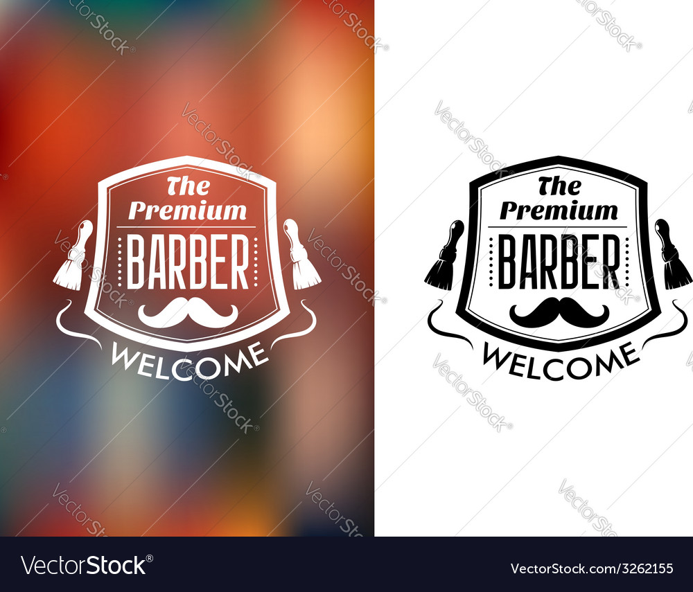 The premium barber welcome sign vector | Price: 1 Credit (USD $1)