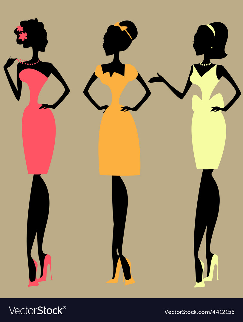 Pretty fashionable women vector | Price: 1 Credit (USD $1)