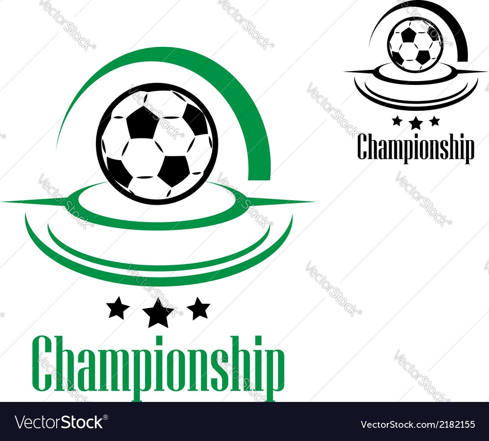 Soccer or football icon vector | Price: 1 Credit (USD $1)