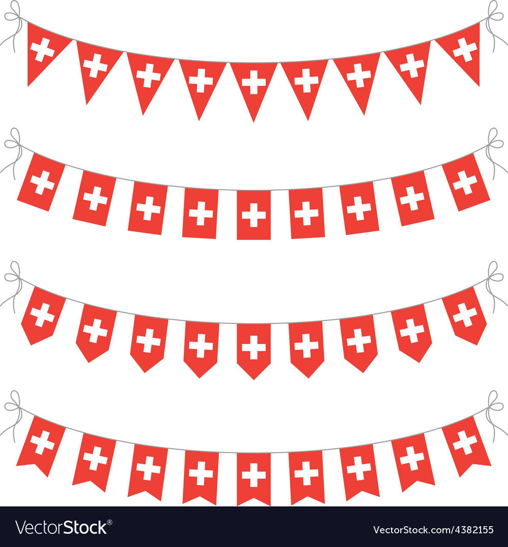 Switzerland bunting vector | Price: 1 Credit (USD $1)