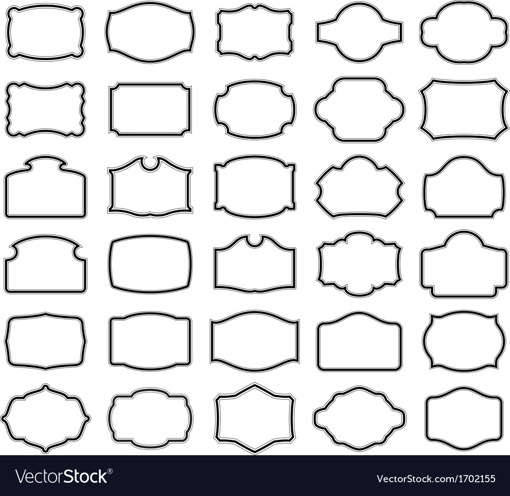 Thirty blank labels vector | Price: 1 Credit (USD $1)