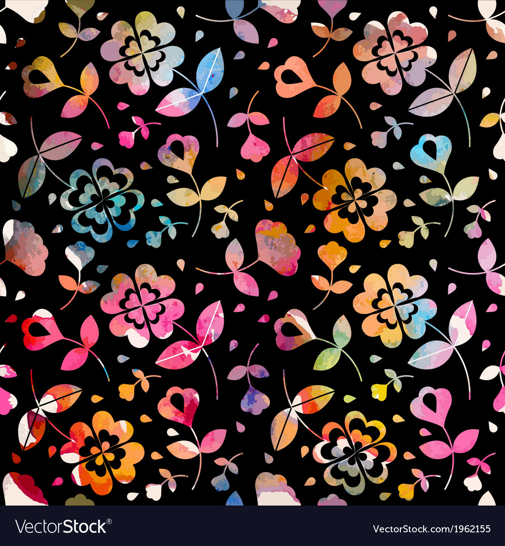 Watercolour floral seamless pattern vector | Price: 1 Credit (USD $1)
