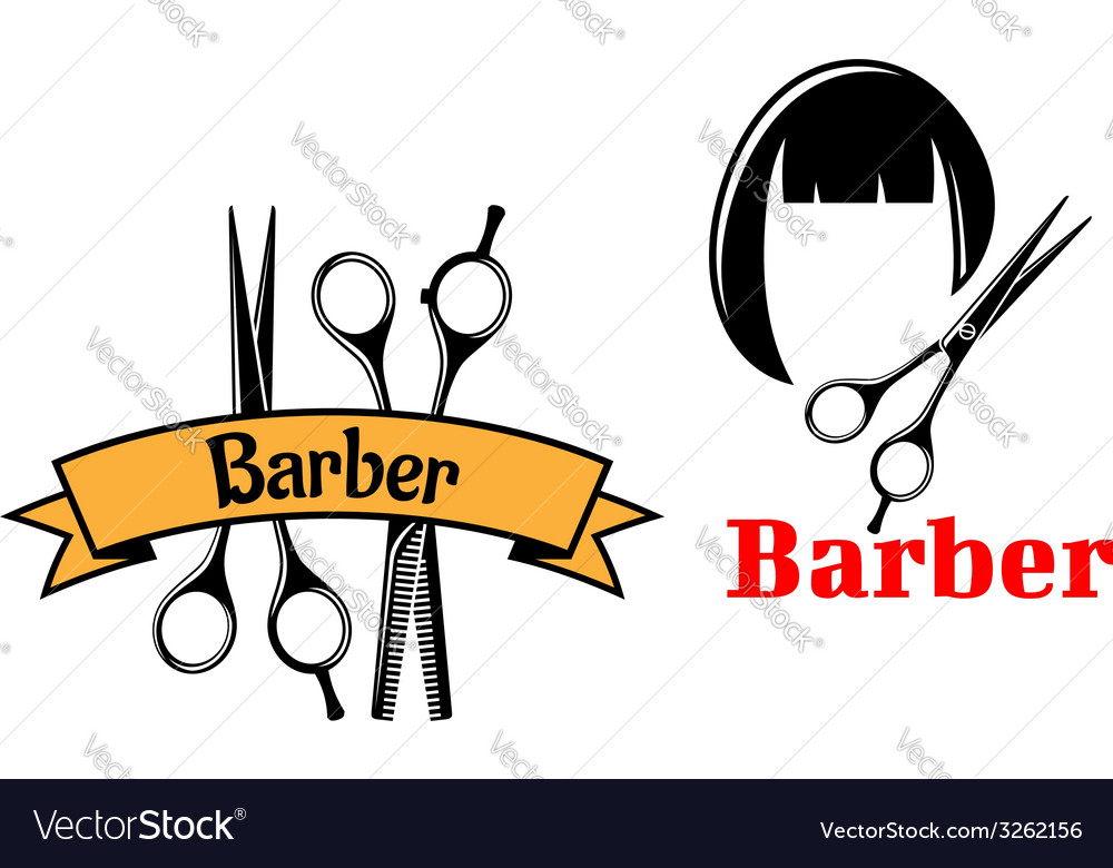 Barber icons and emblems vector | Price: 1 Credit (USD $1)