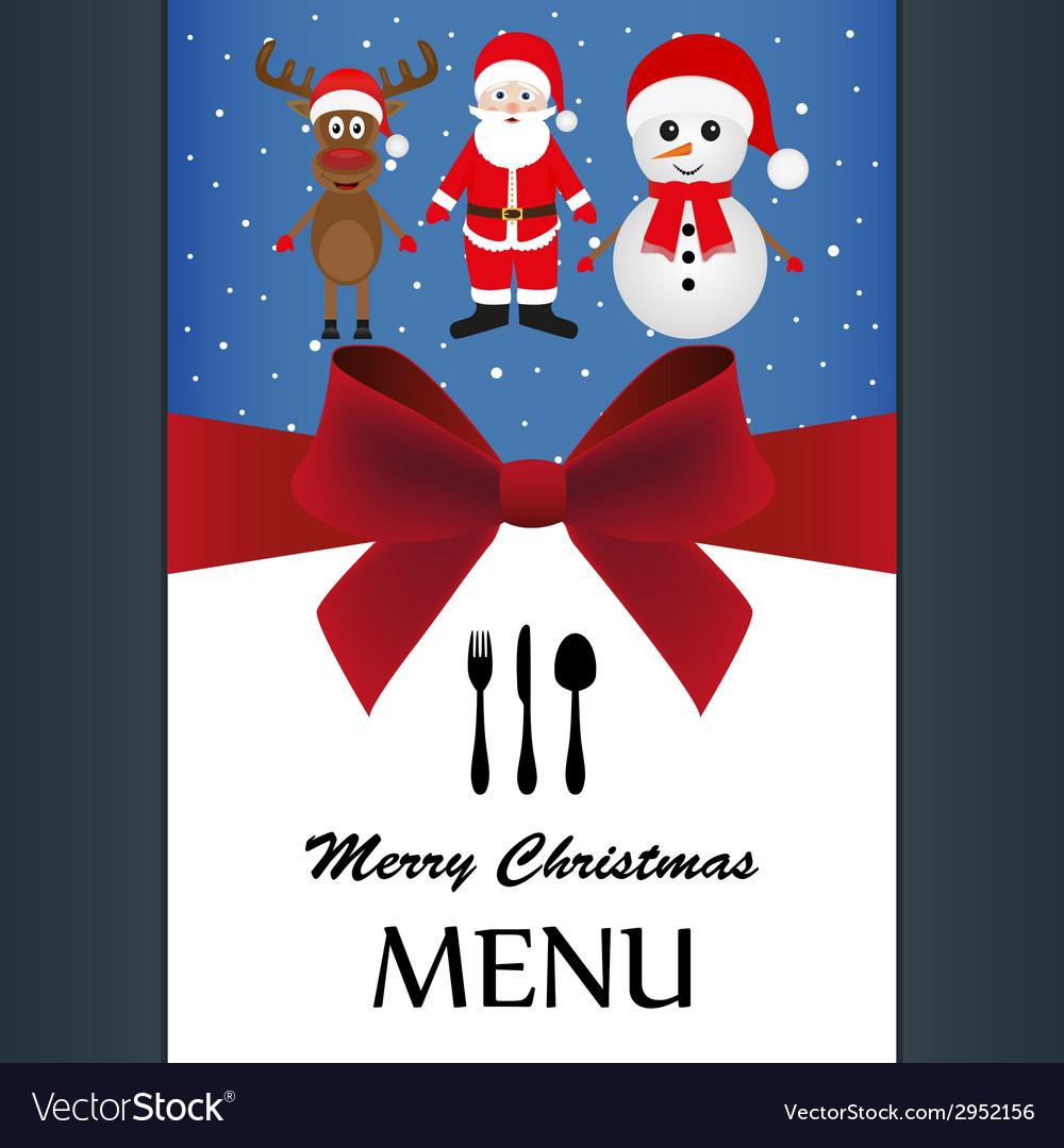 Christmas menu vector | Price: 1 Credit (USD $1)