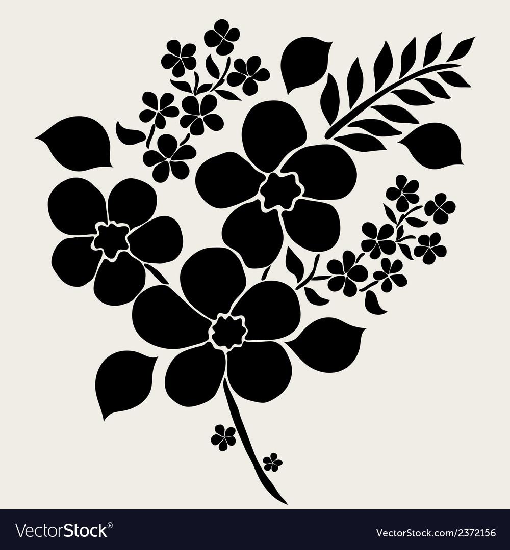Decorative flowers vector | Price: 1 Credit (USD $1)