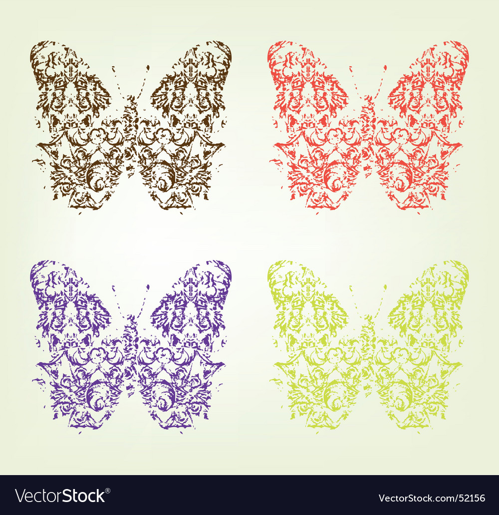 Grunge butterfly vector   Price: 1 Credit (USD $1)