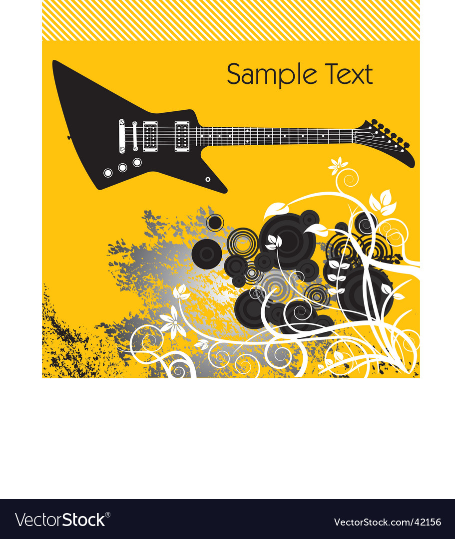 Guitar illustration vector | Price: 1 Credit (USD $1)