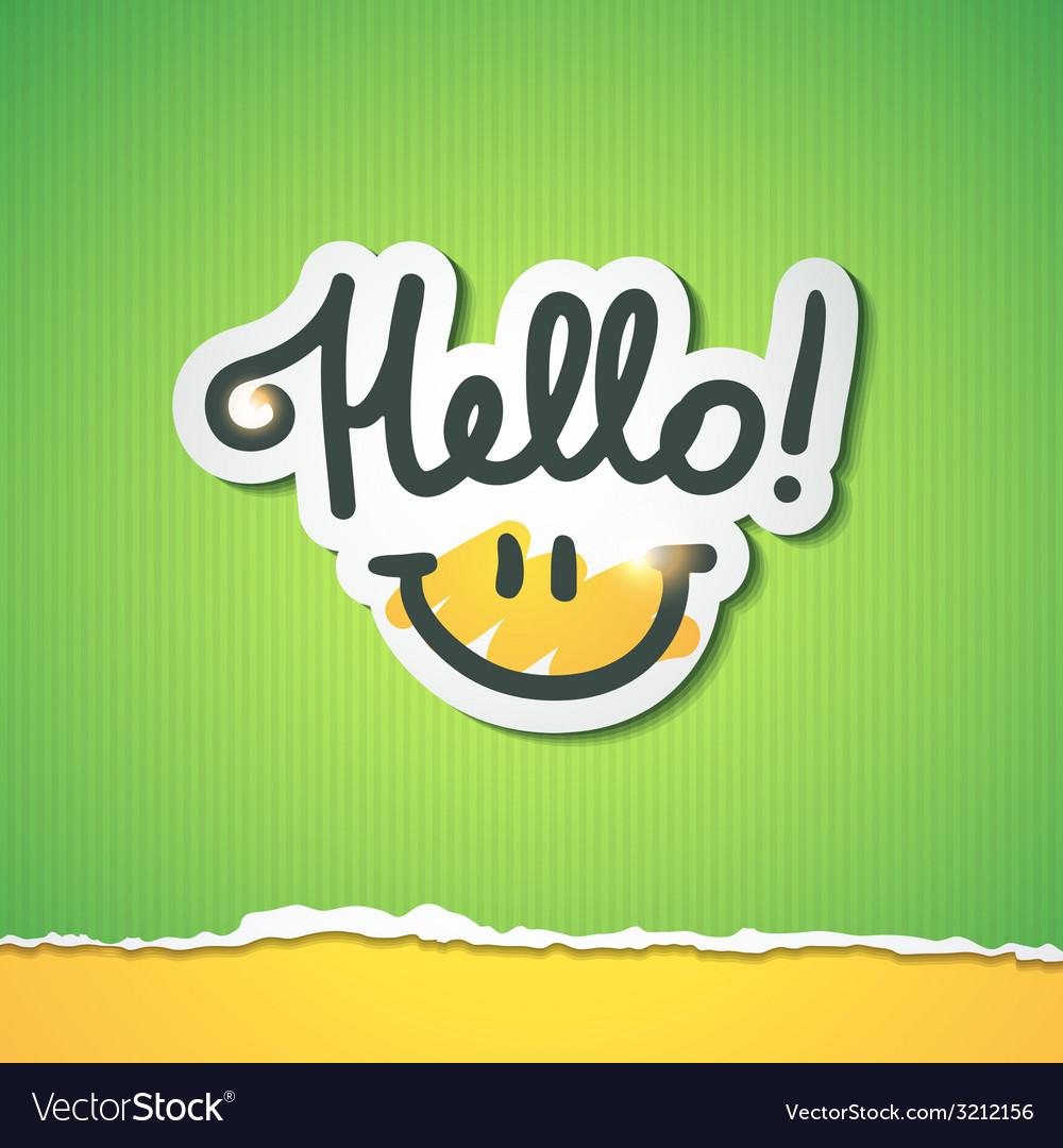 Hello lettering vector | Price: 1 Credit (USD $1)
