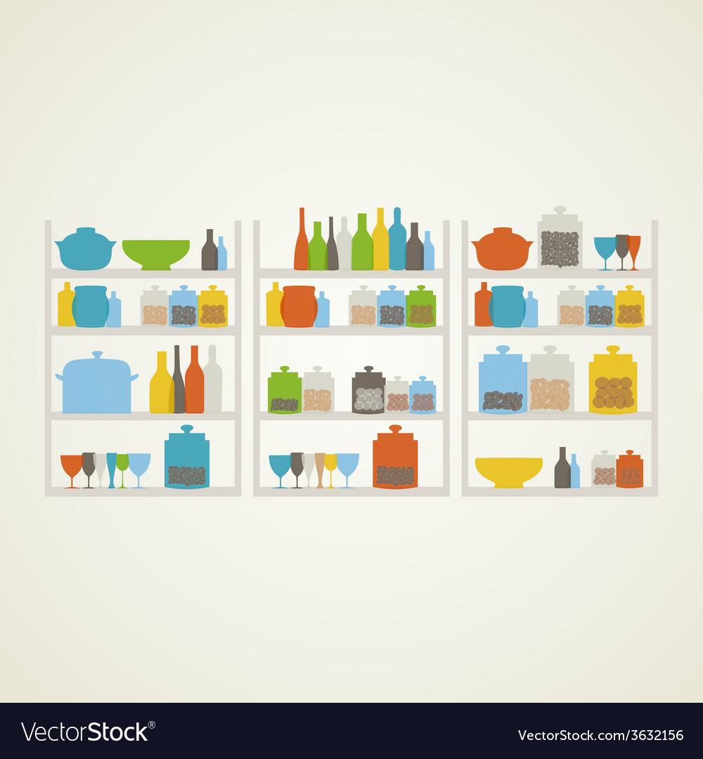 Shelf on kitchen vector | Price: 1 Credit (USD $1)