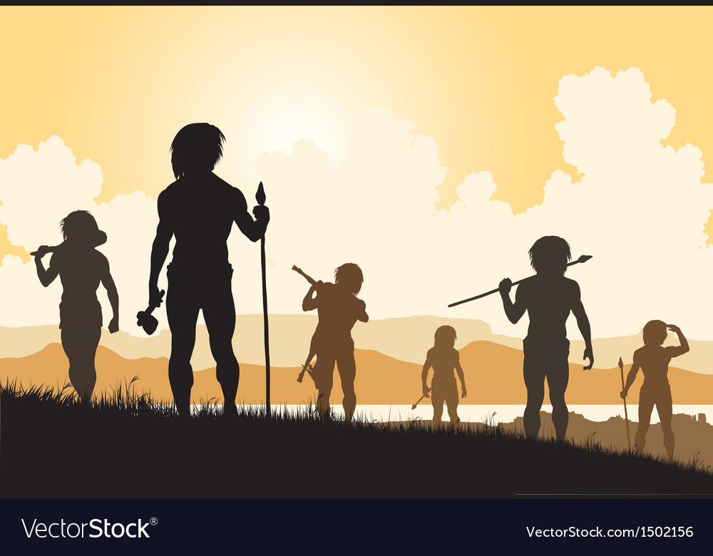 Stoneage hunters vector | Price: 3 Credit (USD $3)