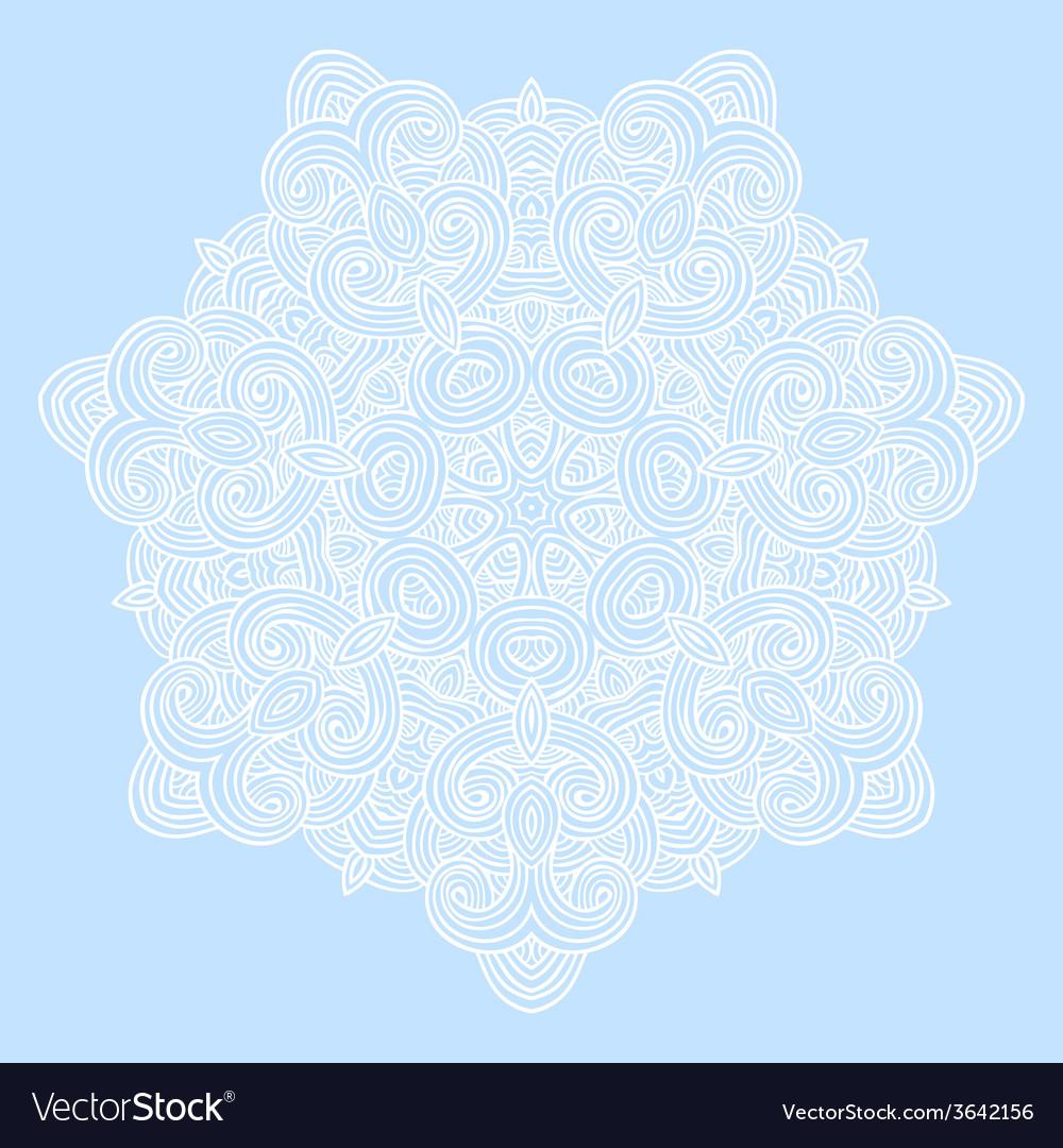 Winter celtic knot pattern card mandala amulet vector   Price: 1 Credit (USD $1)