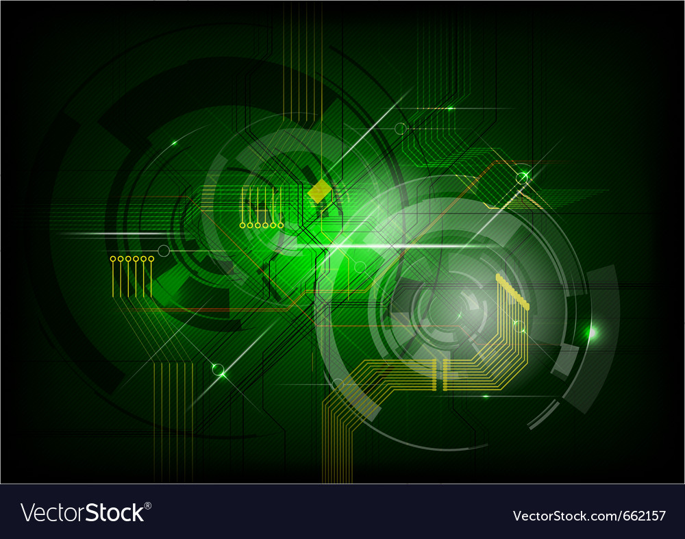 Abstract electric on the green background vector | Price: 1 Credit (USD $1)