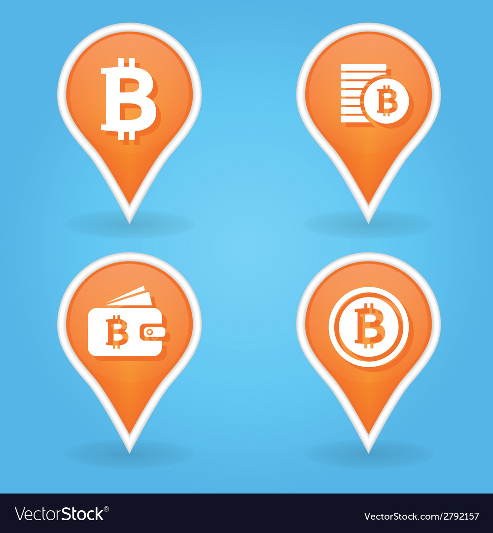 Bitcoin pointers vector | Price: 1 Credit (USD $1)