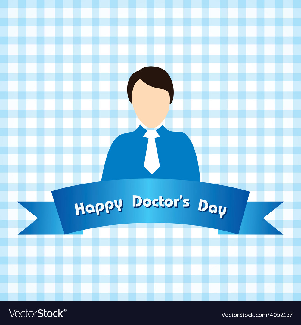 Creative national doctors day greeting vector | Price: 1 Credit (USD $1)