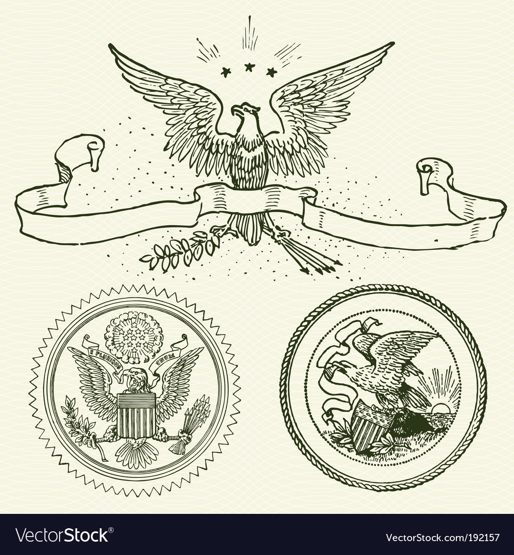 Eagle ornaments vector | Price: 1 Credit (USD $1)