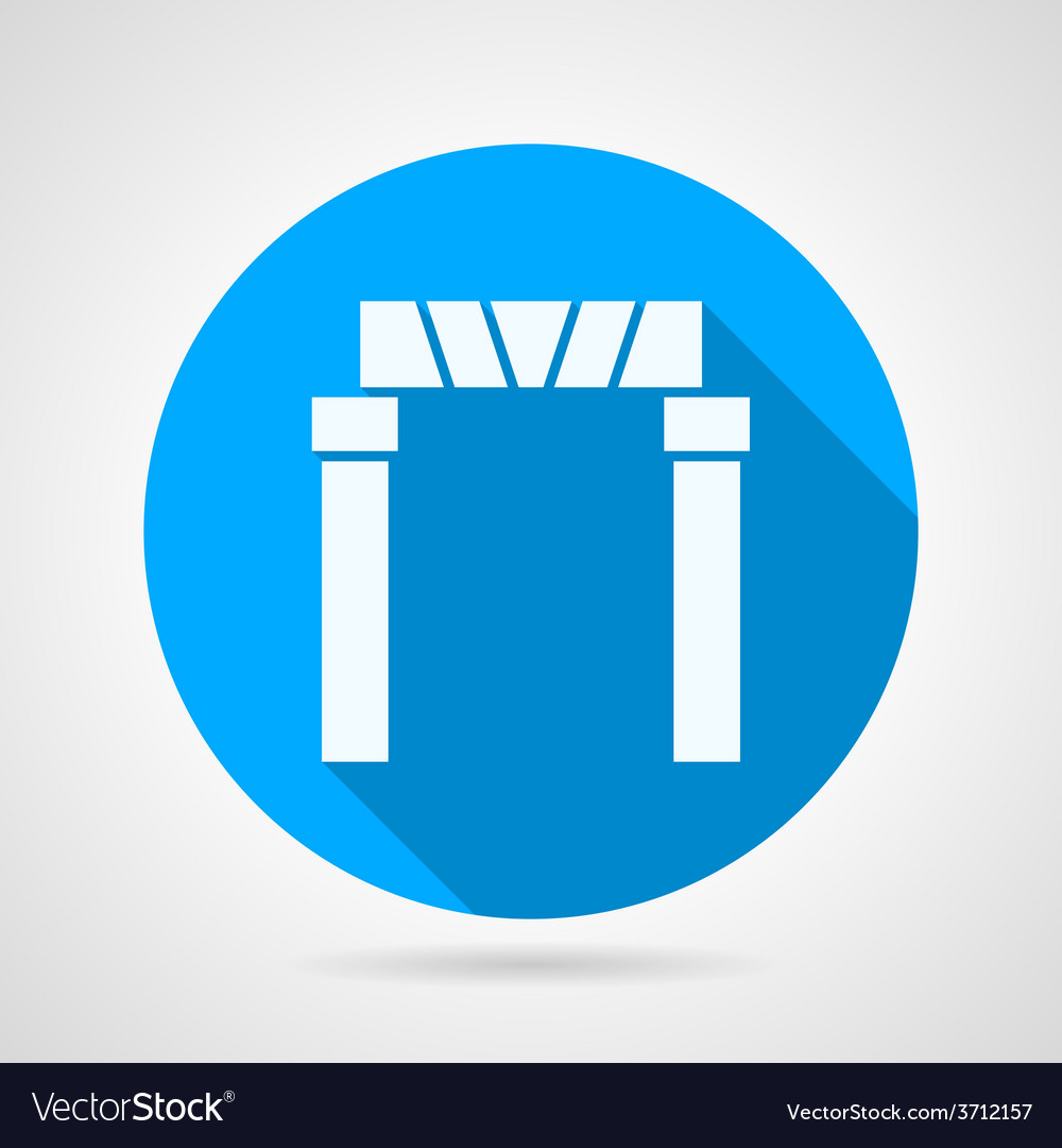 Flat icon for arch entrance vector | Price: 1 Credit (USD $1)