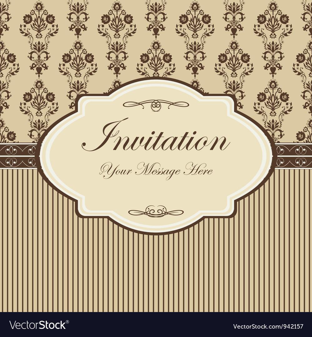 Floral invitation template vector | Price: 1 Credit (USD $1)