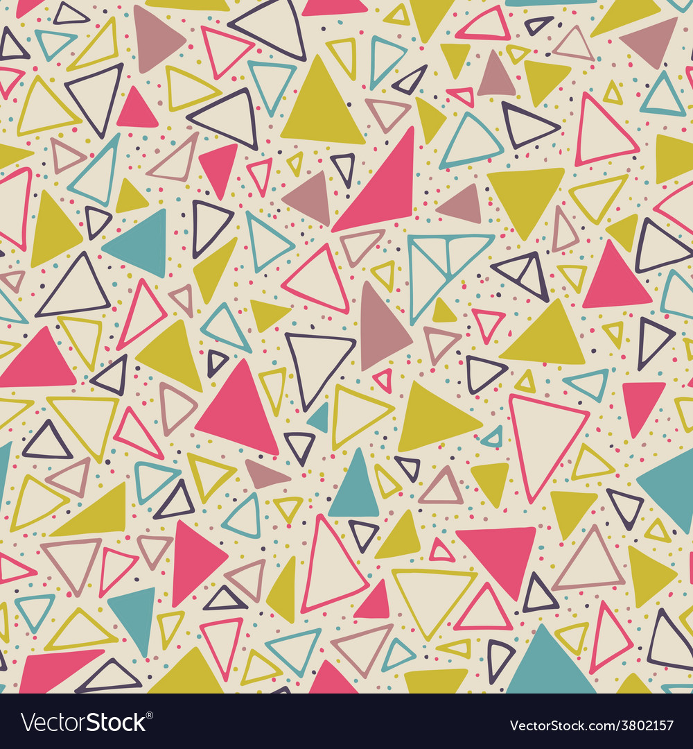 Geometric pattern with triangles and dots vector   Price: 1 Credit (USD $1)