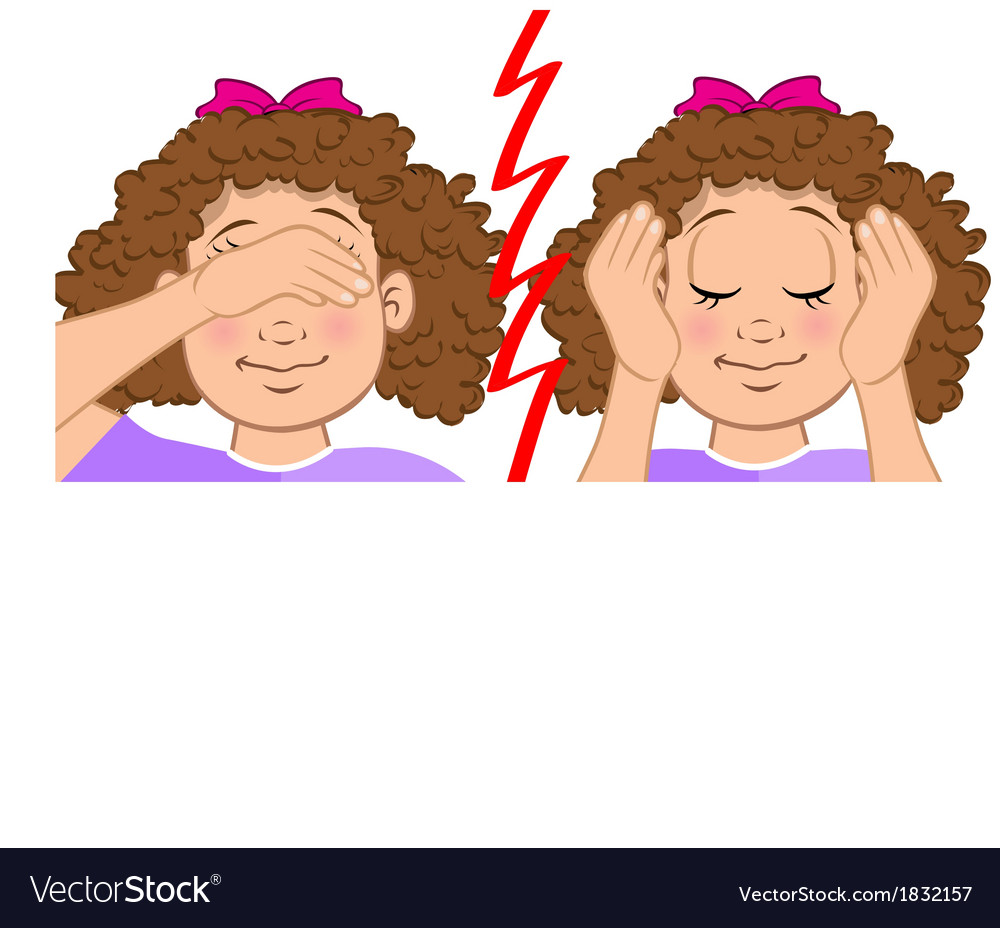 Girl deaf blind vector | Price: 1 Credit (USD $1)