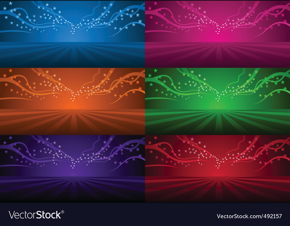 Magic background set vector
