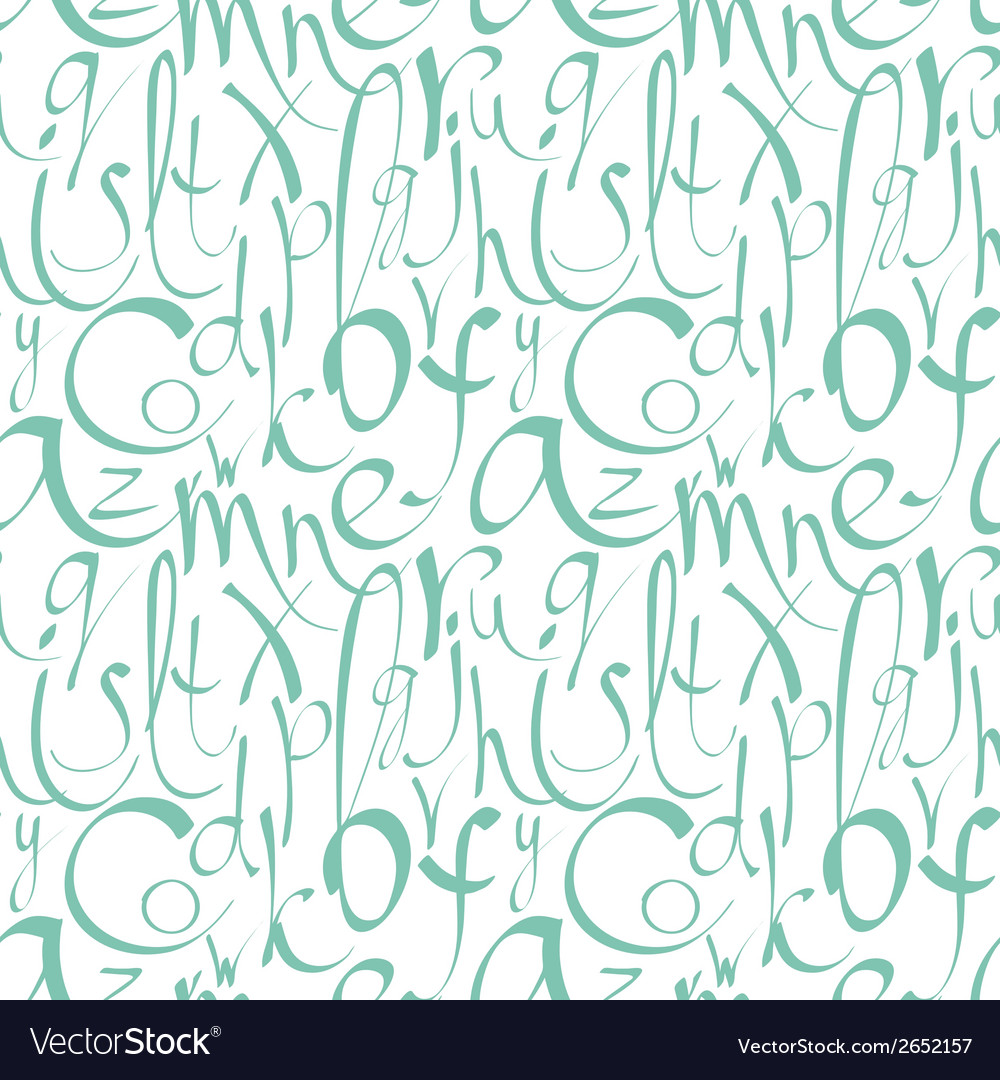 Seamless pattern with decorative letters vector | Price: 1 Credit (USD $1)