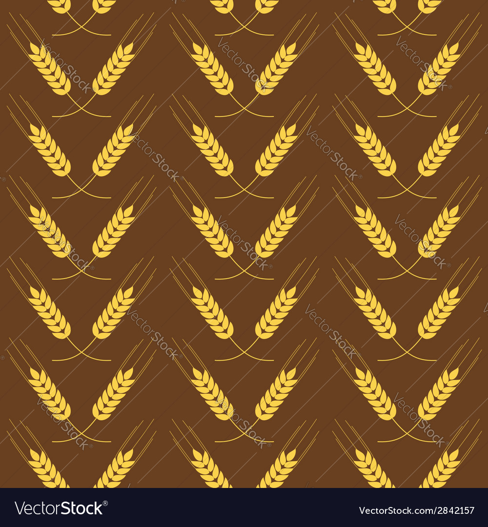 Seamless pattern with wheat vector | Price: 1 Credit (USD $1)