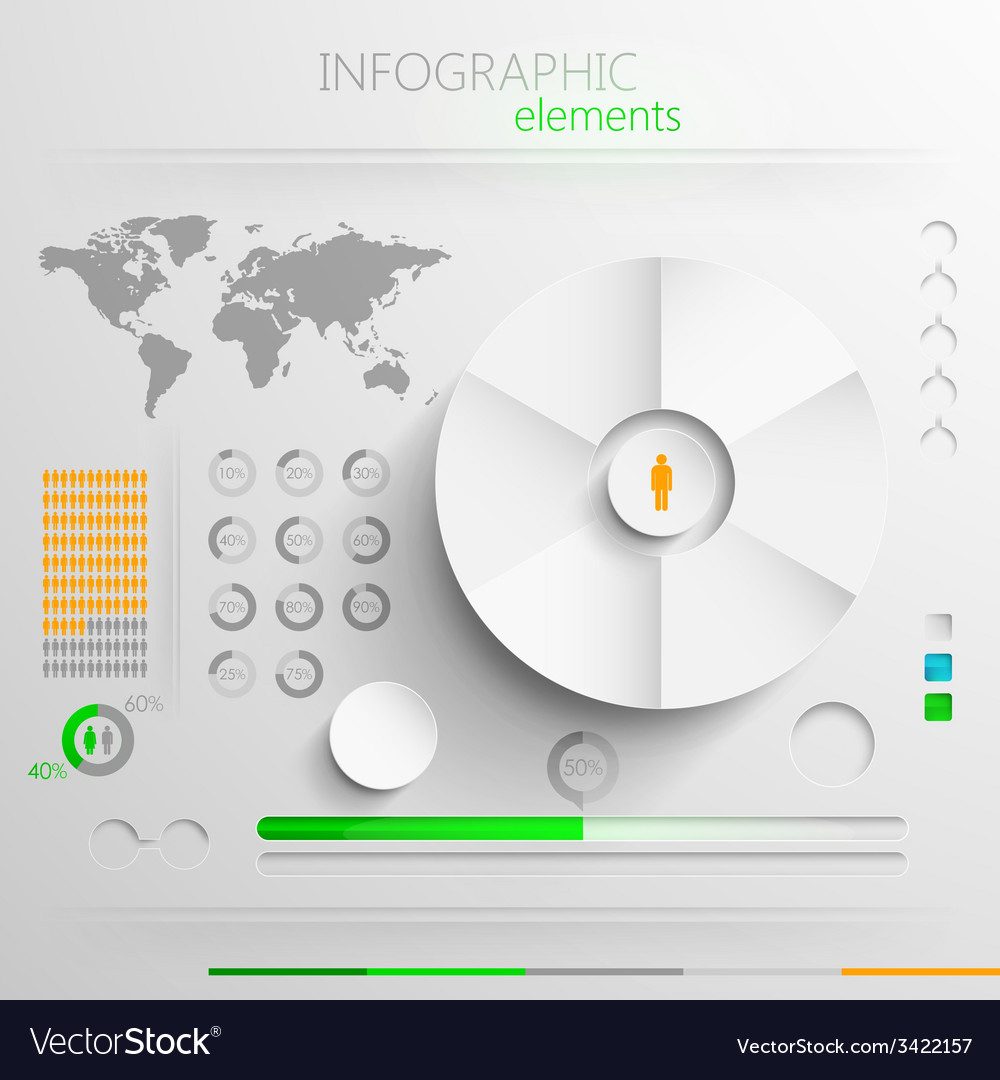 Set of abstract paper infographic elements for vector | Price: 1 Credit (USD $1)