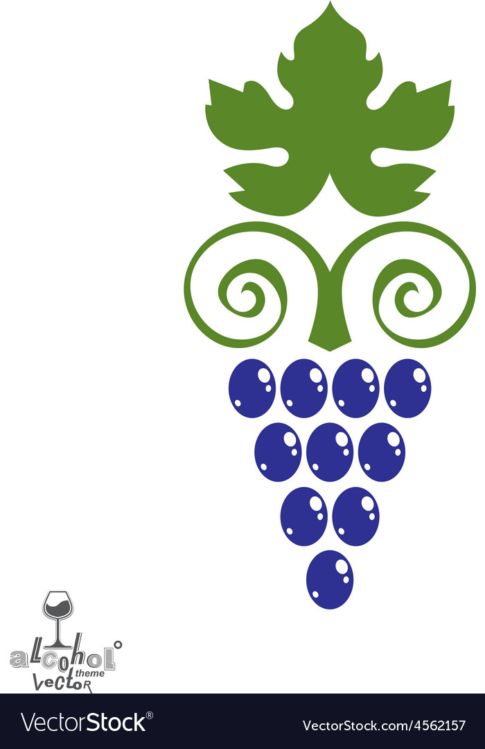 Stylized grape vine winery symbol best for vector | Price: 1 Credit (USD $1)