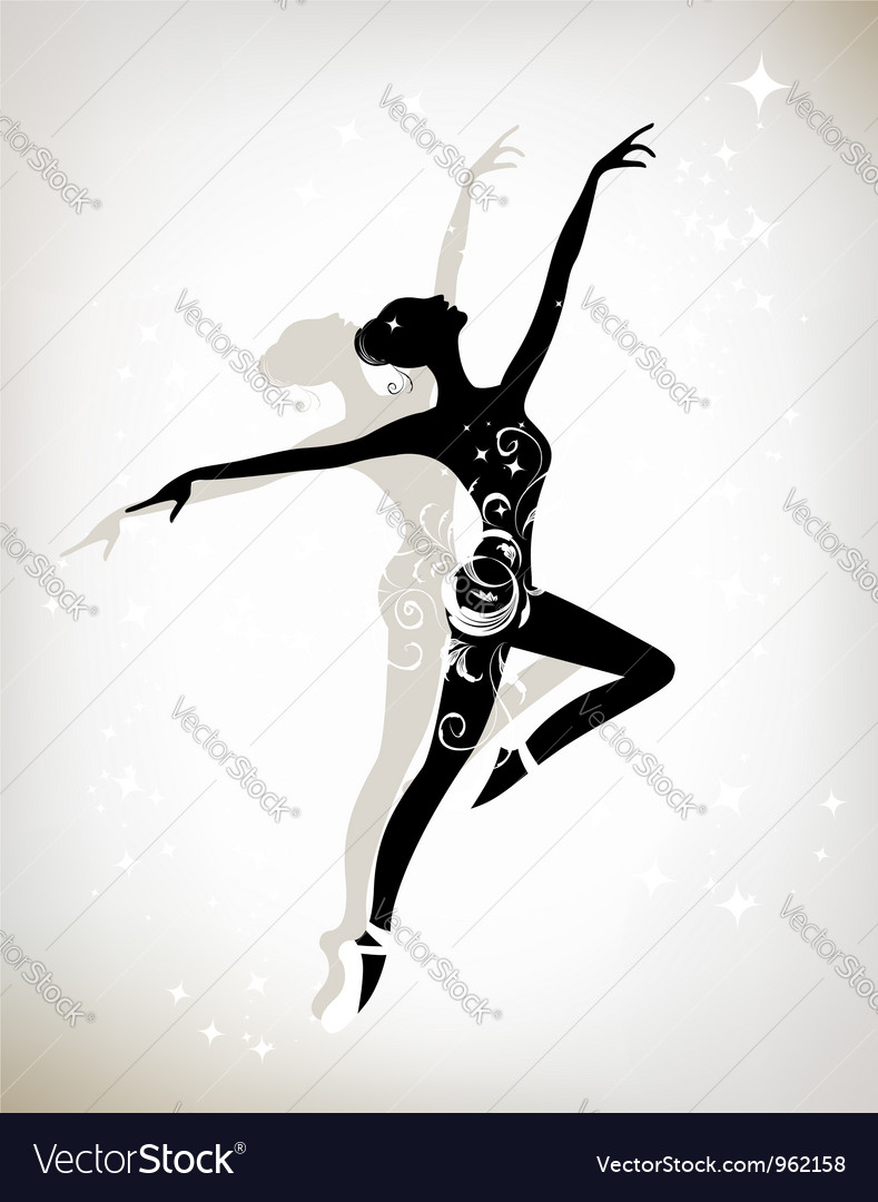 Ballet dancer for your design vector | Price: 1 Credit (USD $1)