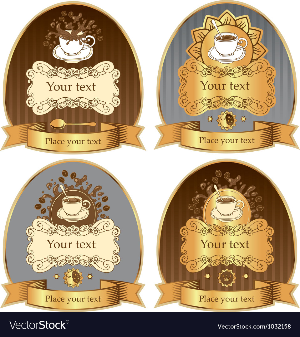 Coffee label vector | Price: 1 Credit (USD $1)