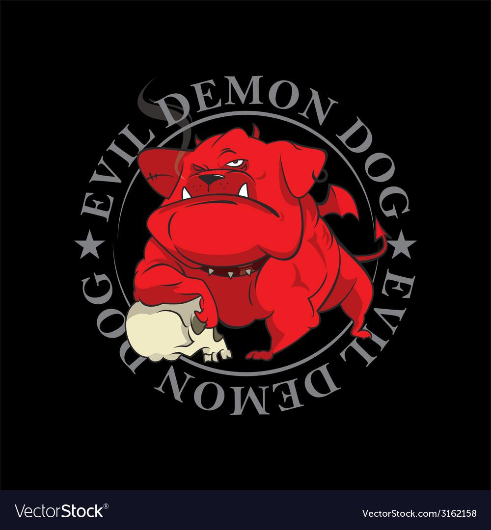Devil dog mascot vector | Price: 1 Credit (USD $1)