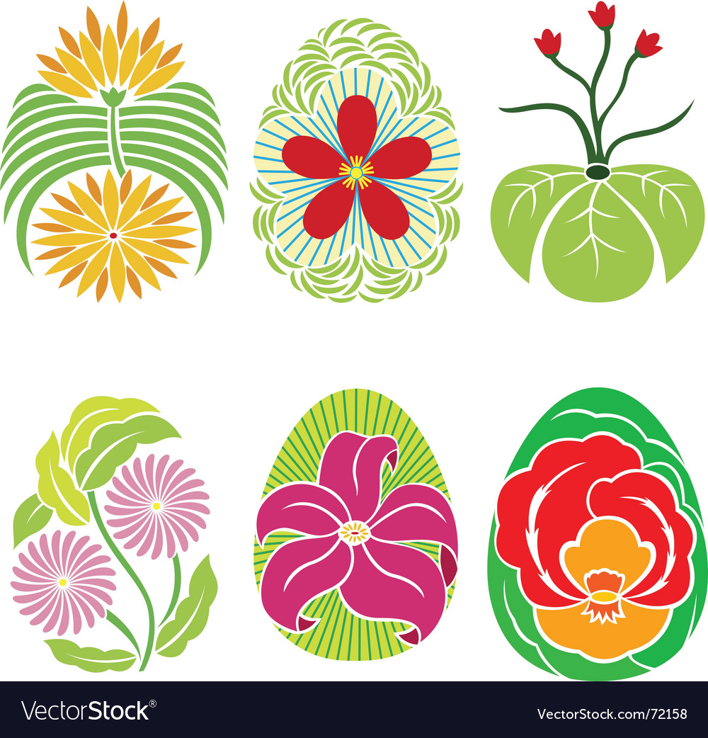 Easter egg decorations vector | Price: 1 Credit (USD $1)