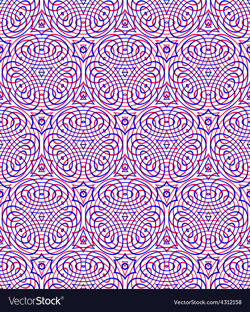 Endless colorful symmetric pattern graphic design vector | Price: 1 Credit (USD $1)