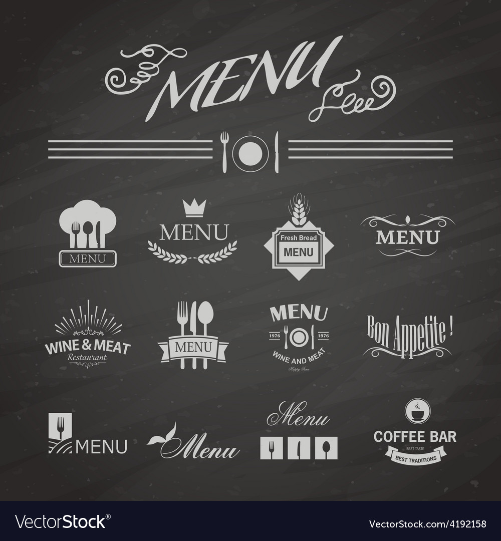 Menu for restaurant vector