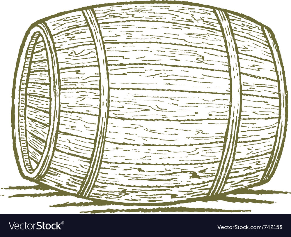 Old barrel vector | Price: 1 Credit (USD $1)