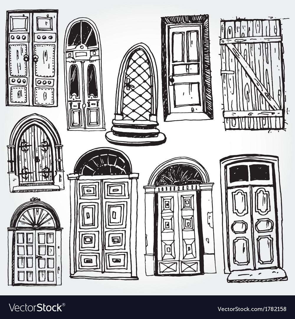 Old doors vector | Price: 1 Credit (USD $1)