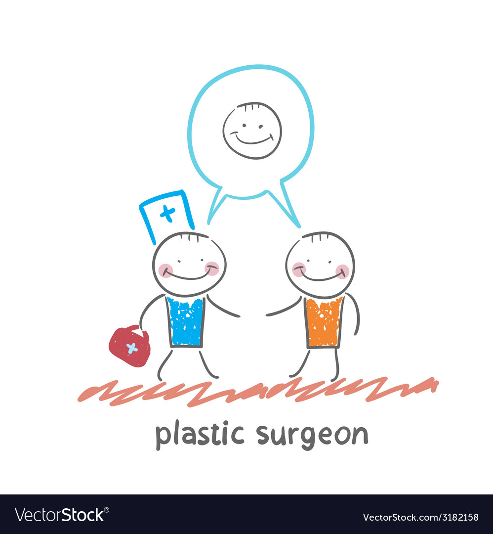 Plastic surgeon says to the patients facial vector | Price: 1 Credit (USD $1)