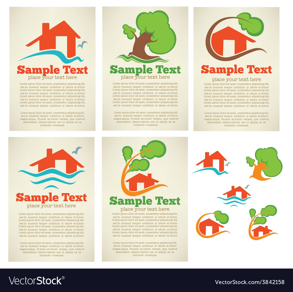 Property cards vector | Price: 1 Credit (USD $1)