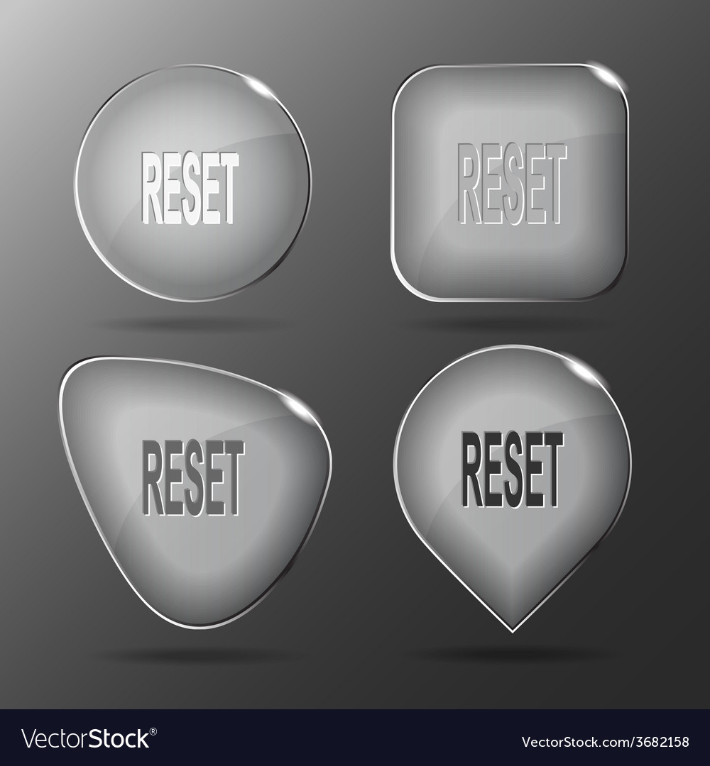 Reset glass buttons vector | Price: 1 Credit (USD $1)
